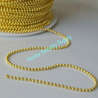 1.5mm Gold Color Plated Faceted Iron Ball Chain