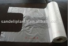 HDPE T-shirt bags on roll(transparent)