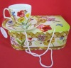 bone china cup and saucer in gift box