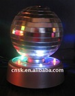 2012 new 4 inch zhejiang mini disco mirror ball with LED motor