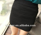 OL Pattern All Match Skirt Black CS12092418-3