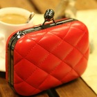 red and black cute Zipper PU Clutch Bags For Women