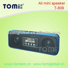 Mini portable speakers for mobile phones (T-809) with FM/USB/SD/LED display