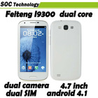 "Dual Core 4.7"" Feiteng I9300 Dual SIM Mobile Phone WCDMA 3G Android 4.1 MTK6577 ROM 4GB Wifi GPS Bluetooth"