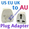 UK EU US to AU AC Power Plug Travel Adapter Converter