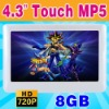"""8GB 4.3"""" Touch Screen MP3 MP4 MP5 Player MP-24"""