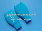 Original Eco-friendly Benz 3 button key cover in blue,car key case