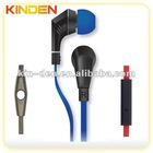 new flat cable earphone with mic and remote