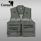 2 way wear multi-pockets fishing nylon men vest