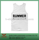 Cotton white printed casual tank top