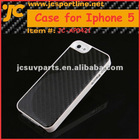 Carbon Fiber white Case with black twill weave for Iphone 5