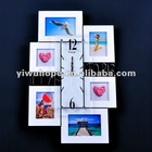 clear acrylic wall photo frame with screw and clock