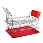 Metal Kitchenware Rack/Dish Rack, Made of Iron Wire with Chrome-plating Finish