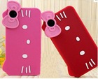Wholesale Fashion Hello Kitty silicone phone Case For iPhone 4/ 4S