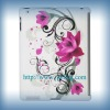 beautiful flower patterns laptop back cover for i pad2