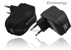 2 port usb AC charger ,usb travel charger