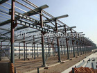Steel structure warehouse,can hold up a hoist of 5T or 10T