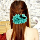 2012 Wholesale plumeria flower hair claws,flower claw clip hair flower clip claw