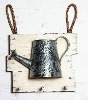 half watering can with hanging hook