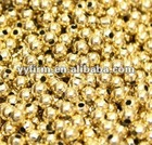 Fashion 8mm high quality gold plated smooth spacer beads for jewelry decorations