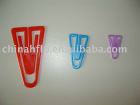 plastic material paper clip with colorfull