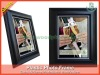 Polystyrene Photo Frame, Plastic Photo Frame, Wedding Gift Item, Black color with silver line, #PS-44022