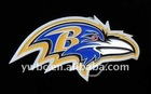 fashion yellow blue enamel Baltimore Ravens Logo Belt Buckle