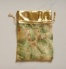 Royal Golden Daisy Printing Tech Organza Bag