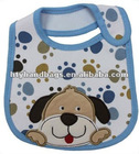Cute baby bib with embroidery