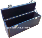 brown fauxe leather jewelry box with lock