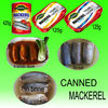 Canned mackerel fish