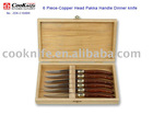 6PCS Pakka Wood Handle Fork With Wooden Gift Box
