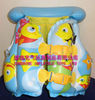 PVC inflatable cartoon undersea animal children life-jacket EN71 approved