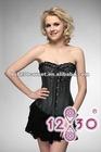 2012 New arrival satin corset, crystal diamond heart corset