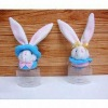 Easter plush bunny plastic candy container