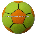 Plus size tennis ball, size5 tennis ball yellow and orange