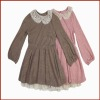 Girls New Design Long Sleeve Frock Styles for Autum