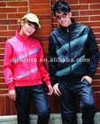 Fleece sportswear zipper up coat,printed hiking wear,men camping casual jacket