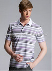 business relax short sleeve stripe T-shirt