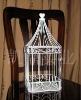 White bird cage style wedding gift card Holder