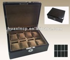 Top grade black carbon fiber watch box