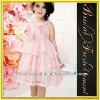 Hot Sale Chiffon Sleeveless Appliqued Princess Dresses For Kids