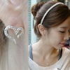 Fashion lady love heart diamond stud earrings - Free Shipping
