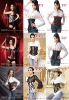 woman black underbust sexy corset