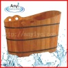 Oak wooden soaking barrel bath