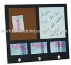 cork and dry erase board wooden memo board with photo frame