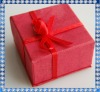 red paper gift box for earring or ring
