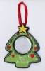 Embroidered christmas tree decoration