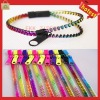 New trend colorful plastic zipper different color bangles