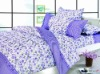 100% cotton 40s*40s /124*64, cute printing, 4pcs pigment printed bedding set